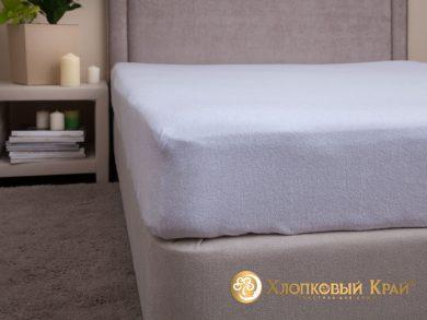 натяжная простыня на резинке Белая, фото 7