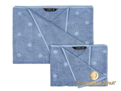 Полотенце банное 70х140 см Бон Пари деним, фото 11