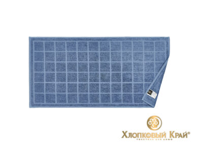 полотенце для лица 50х100 см Клетка деним, фото 3