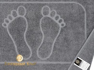 полотенце-коврик для ног 50х70 см графит, фото 4