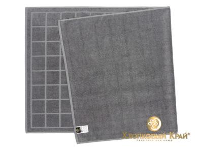 Полотенце банное 70х140 см Клетка графит, фото 4