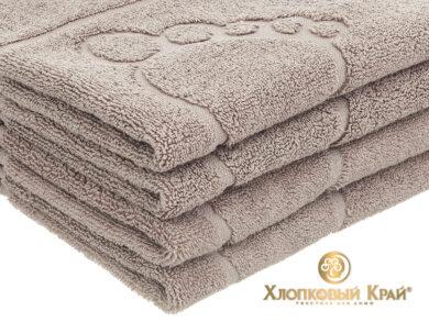 полотенце-коврик для ног 50х70 см кофе, фото 4