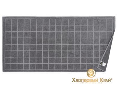 Полотенце банное 70х140 см Клетка графит, фото 6