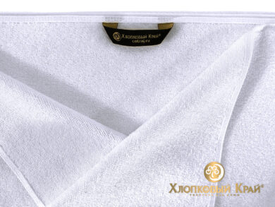 Полотенце банное 70х140 см белое отельное, фото 5