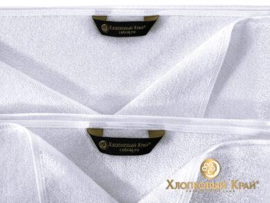 Полотенце банное 70х140 см белое отельное, фото 6