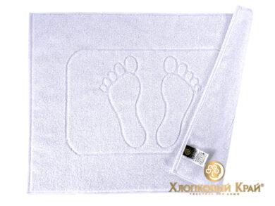 полотенце-коврик для ног 50х70 см белое отельное, фото 2