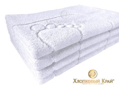 полотенце-коврик для ног 50х70 см белое отельное, фото 3