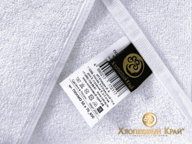 полотенце-коврик для ног 50х70 см белое отельное, фото 5