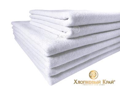 полотенце для лица 50х100 см белое отельное, фото 4