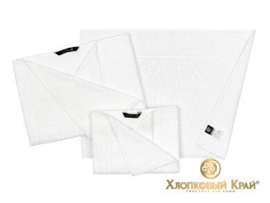 Полотенце банное 70х140 см Клетка белый, фото 2