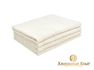 полотенце-коврик для ног 50х70 см молоко, фото 3