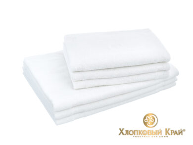 полотенце банное 70х140 см Амор белый, фото 4