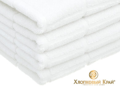 Полотенце банное 70х140 см Клетка белый, фото 5