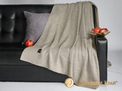 плед-покрывало на кровать Эко беж 220*260см, фото 4