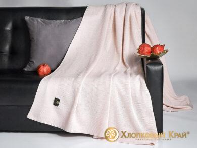 плед-покрывало на кровать Эко пудра 220*260см, фото 3