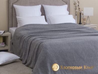 плед-покрывало на кровать Эко серый 220*260см, фото 3