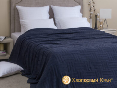 плед-покрывало на кровать Гранж деним 220*260см, фото 3