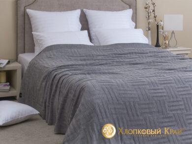 плед-покрывало на кровать Гранж серый 220*260см, фото 3