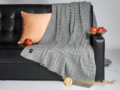 плед-покрывало на кровать Гранж серый 220*260см, фото 4