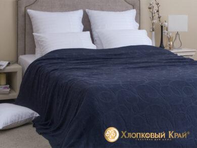 плед-покрывало на кровать Классик деним 220*260см, фото 3