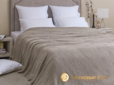 плед-покрывало на кровать Лаунж беж 220*260см, фото 3