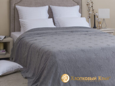 плед-покрывало на кровать Лаунж серый 220*260см, фото 3