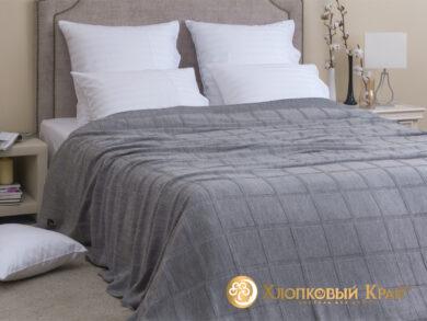 плед-покрывало на кровать Лофт серый 220*260см, фото 3