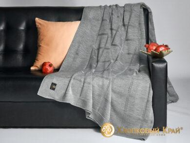 плед-покрывало на кровать Лофт серый 220*260см, фото 4