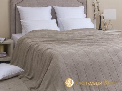 плед-покрывало на кровать Сканди беж 220*260см, фото 3