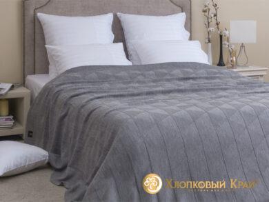 плед-покрывало на кровать Сканди серый 220*260см, фото 3