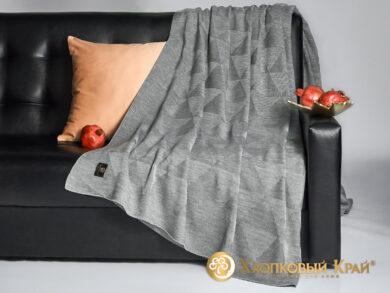 плед-покрывало на кровать Сканди серый 220*260см, фото 4