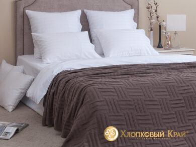 плед-покрывало на кровать Гранж кофе 180*220см, фото 3