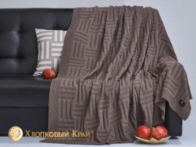 плед-покрывало на кровать Гранж кофе 180*220см, фото 4