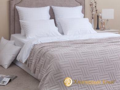 плед-покрывало на кровать Гранж лен 180*220см, фото 3