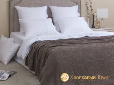 плед-покрывало на кровать Классик кофе 180*220см, фото 3