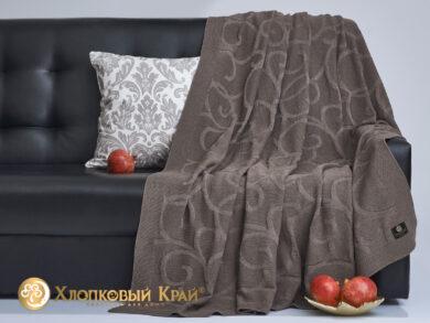 плед-покрывало на кровать Классик кофе 180*220см, фото 4