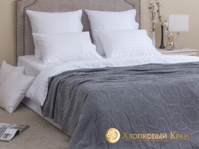 плед-покрывало на кровать Классик серый 180*220см, фото 3