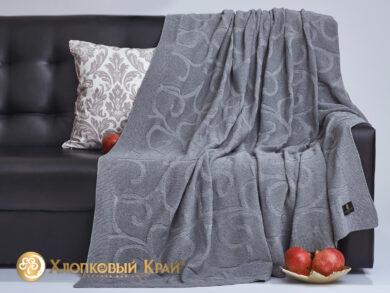 плед-покрывало на кровать Классик серый 180*220см, фото 4