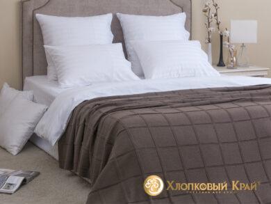плед-покрывало на кровать Лофт кофе 180*220см, фото 3