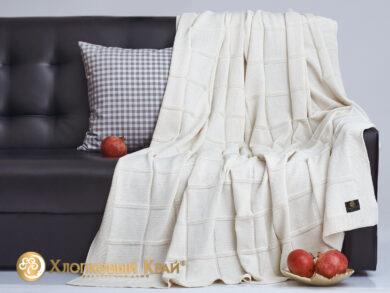 плед-покрывало на кровать Лофт молоко 180*220см, фото 4