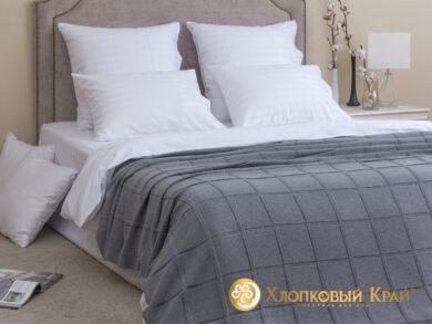 плед-покрывало на кровать Лофт серый 180*220см, фото 3