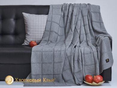 плед-покрывало на кровать Лофт серый 180*220см, фото 4