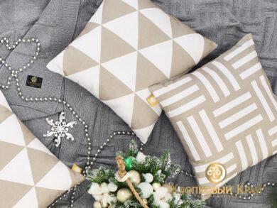 Подушка декоративная Гранж лен, фото 8