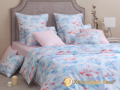 Постельное белье Фламинго розовый, фото 5