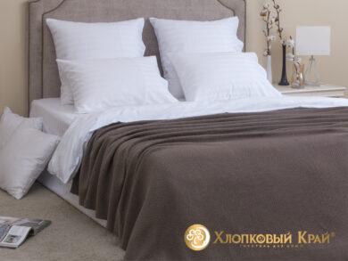 плед-покрывало на кровать Эко кофе 180*220см, фото 3