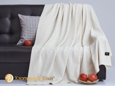 плед-покрывало на кровать Эко молоко 180*220см, фото 4