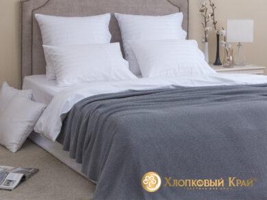 плед-покрывало на кровать Эко серый 180*220см, фото 3