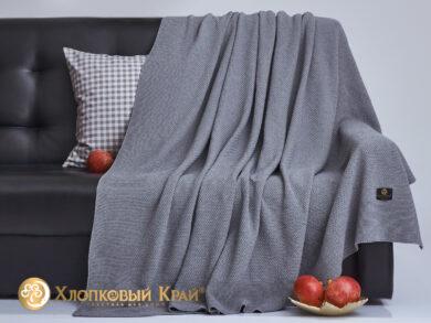 плед-покрывало на кровать Эко серый 180*220см, фото 4
