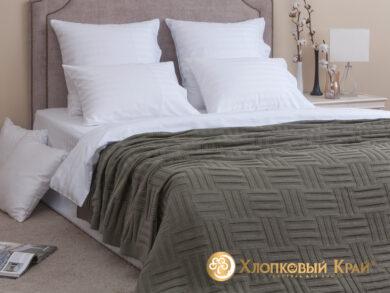 плед-покрывало на кровать Гранж полынь 180*220см, фото 3