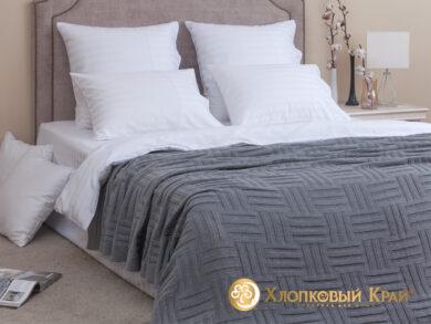 плед-покрывало на кровать Гранж серый 180*220см, фото 3
